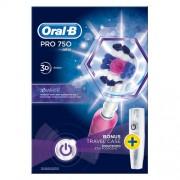 Oral B Elektrický zubní kartáček Pro 750 3D White + Cestovní pouzdro
