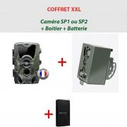 NATURACAM® COFFRET XXL Caméra SP1 ou 2 + boîtier de sécurité + batterie suppl.