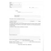 Adresa de instiintare a parintilor privind situatia scolara a elevului