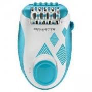 Епилатор Rowenta Skin Spirit, 24 пинсети, 2 настройки за скорост, 2 аксесоара, Зони на краката и тялото, Син, EP2910F0