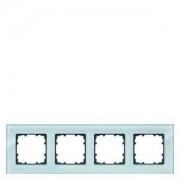 Siemens DELTA miro 4-es kristályzöld üvegkeret függőleges és vízszintes elhelyezéssel (Siemens 5TG1204)
