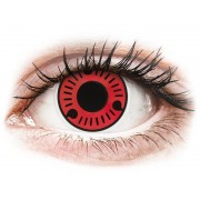 ColourVUE Crazy Lens - Sasuke (Червени, Саске ) - без диоптър (2 лещи)