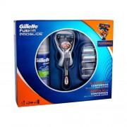 Gillette Fusion Proglide Flexball set cadou Aparat de ras 1 buc + Rezerve 2 buc + Gel de barbierit Series Sensitive 75 ml pentru bărbați