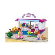 Girl's Dream kávéház 226 darabos építőkészlet 4 figurával