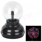 Magia de 4 puertos USB 2.0 HUB de plasma esfera de la bola - Negro