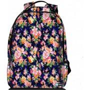 Sleevy laptop rugzak 17,3 Deluxe oranje/roze bloemetjes