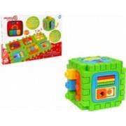 Jucarie educationala Cub cu sortator Globo Vitamina G si alte activitati interactive