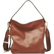 Fossil Women Brown Genuine Leather Hobo