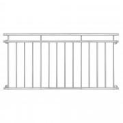 Преграда за балкон, тераса [casa.pro]® 90 x 184 cm, Неръждаема стомана