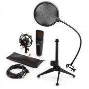 Auna MIC-920B, USB микрофонен комплект V2 - кондензаторен микрофон, стойка за микрофон, pop filter (60001977-V2)