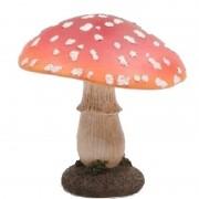 Geen Decoratie huis/tuin beeldje paddenstoel 15 cm