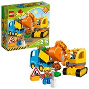 Lego Truck and Tracked Excavator, Multi Color
