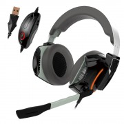 HEADPHONES, Gamdias HEPHAESTUS P1 RGB, Gaming Headset, Virtual 7.1, Black