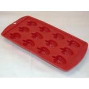 Gumis, szeder alakú jégkocka készítő piros (707)