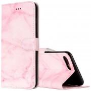 Para IPhone 8 Plus Y 7 Plus Marmol Rosa Patrón Horizontal Flip Funda De Cuero Con Soporte Y Ranuras Para Tarjetas Y Billetera