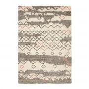 Am.pm Tapete estilo berbere, MaradaCru/antracite/terra de siena- 200 x 290 cm