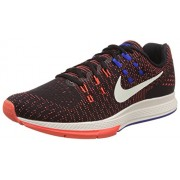 Nike Men's Air Zoom Structure 19 Black, Sail, Red and Blue Running Shoes -10 UK/India (45 EU)(11 US)