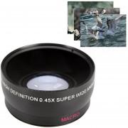 Lente Gran Angular Macro 58mm 0.45X High Definition Wide Angle Macro Lens For Nikon Sony Canon