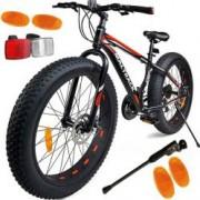Bicicleta MalTrack Fat Bike cu 21 viteze 26 Inch roti late 4 cadru din aluminiu frane Shimano pe disc
