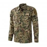 El campo entrenamiento de combate táctico camisa de los hombres al aire libre