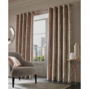 Sienna Eyelet Crushed Velvet Curtains - Natural - 66 x 54cm