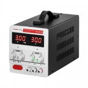 Fonte de alimentação de laboratório - 0-30 V - 0-3 A DC - LED