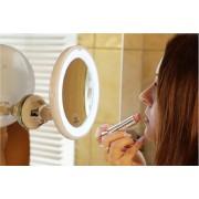 Fantasia Make-up spiegel   LED verlichting en zuignap (10 * vergrotend)   Rond   Diameter 17,5 cm   Spiegeloppervlak 13 cm