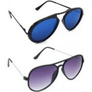 Hrinkar Wrap-around Sunglasses(Blue, Violet)