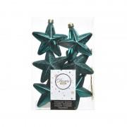 Geen Smaragd groene kerstversiering sterren kerstballen 7,5 cm