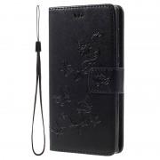 Sony Xperia L1 Butterfly Wallet Case - Black