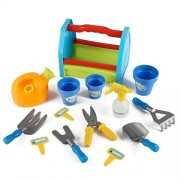 Rainbow Gardening Tool Box 14pc Garden Tools Toy Set For Kids