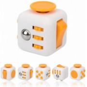 Cub antistres Fidget cube Alb-Galben