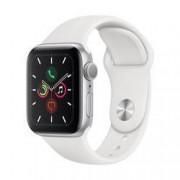 Apple Watch Series 5 40 mm, stříbrná bílá