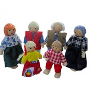 Agooding Happy Family Doll House Accessories - Family Affair Caucasian Family
