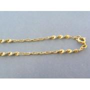 Zlatá retiazka žlté zlato točený vzor s očkami DR48556Z