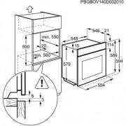 GARANTIE 2 ANI Cuptor incorporabil multifunctional AEG, gatire cu aburi, capacitate 70 l, inox BSE882320M