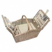 Willow Direct Baskets Double Lidded 4 Person Picnic Hamper