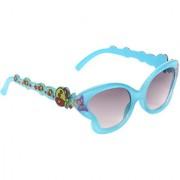 Zyaden Girl's Black Full Rim UV Protection Cat-eye Sunglasses