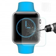 2 PC's ENKAY Hat-Prins voor Apple Watch 42 mm 0.2mm 9H oppervlaktehardheid 2.15D explosieveilige getemperd glas scherm Film