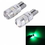 2st T10 3W 6 SMD 5630 LED Canbus auto foutvrij Clearance licht Lamp DC 12V(Green Light)