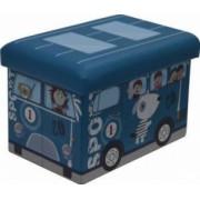 Taburet Pliabil Heinner Home PVC PTR Copii Blue