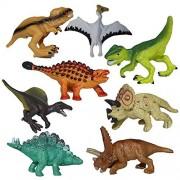 Realistic Looking Dinosaurs, Moonvvin 8PCS Jumbo Plastic Assorted Dinosaur Figures, Walking Dinosaur for Kids Toy Christmas gift