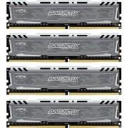 Memorie Crucial Ballistix Sport LT Gray, 32 GB (4x8GB), DDR4, 2400 MHz, CL 16, 1.2v