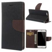 Mercury Pouzdro / kryt pro Apple iPhone 6 / 6S - Mercury, Fancy Diary Black/Brown