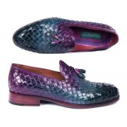 Paul Parkman Woven Leather Tassel Loafer Shoes Multicolor WVN88-MIX
