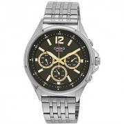 Casio Enticer Analog Black Dial Mens Watch - Mtp-E303D-1Avdf( A957)
