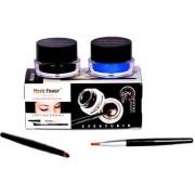 Music Flower Long Wear Gel Eyeliner Smudge Proof Waterproof (Black And Blue)