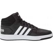Adidas Men's Hoops 2.0, White/Black, 8 M US