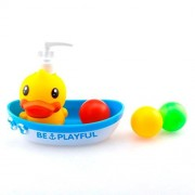Auwer Rubber Ducks, Kids Educational Bathing Toy, Children Bathing Squeaky Duck Dolls, Rubber Race Duck, Bath Toy for Kids, Bath Liquid Container (Multicolor)
