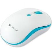 Mouse Wireless 2.4GHz 800-1600 dpi Bianco/Azzurro